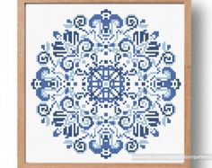 Cross stitch pattern Blue Delft, Counted cross stitch pattern, Cross stitch chart, Xstitch, Modern cross stitch, Holland cross stitch