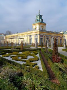King Jan III Sobieski of Poland's Palace. Known also as Palace of Wilanow close to Warsaw.