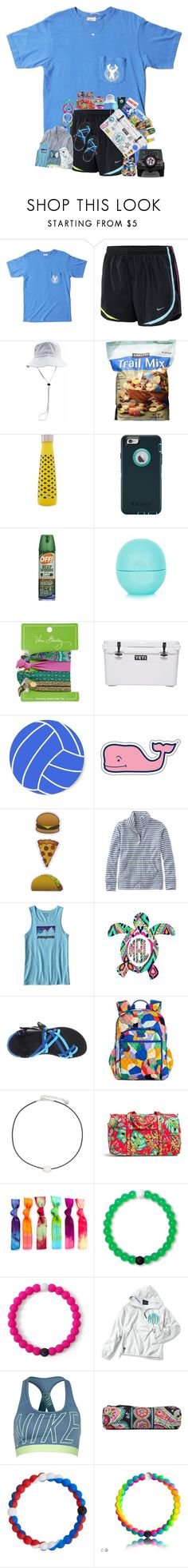 """""""hiking overload !!! (:"""" by arieannahicks on Polyvore featuring OBEY Clothing, NIKE, S'well, OtterBox, Eos, Vera Bradley, Southern Proper, Guy Harvey, Vineyard Vines and Ankit"""