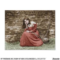 ST THERESE AS JOAN OF ARC.COLORIZED PHOTO PRINT
