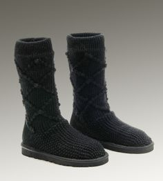 WOMEN UGG CLASSIC CARDY BOOTS BLACK