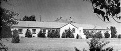 General Hospital, Tucumcari, New Mexico, USA.  The hospital sit on a hill.