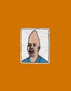 """Handmade embroidery by VANASVELD inspired by movie """"CONEHEAD"""" Chucky, Patch, Hand Embroidery, Etsy, Movie, Inspired, Handmade, Nostalgia, Hand Made"""