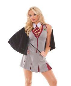 Hermoine Halloween Costume S M L Women Sexy Adult Gryffindor #HarryPotter Wizard #ElegantMoments #CompleteCostume