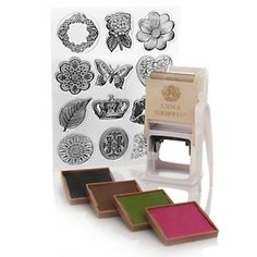 Anna Griffin® Self-Inking Stamper with 4 Ink Pads at HSN.com.