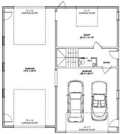 PDF house plans, garage plans, & shed plans. Garage Plans With Loft, Garage Floor Plans, Garage Ideas, Garage Shop Plans, Garage Apartment Plans, Garage Apartments, Garage Apartment Interior, Apartment Ideas, Shed Building Plans