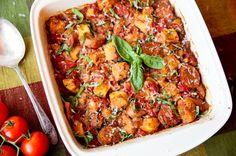 Panzanella and Sausage Casserole Bake - Its like an Italian-style Thanksgiving stuffing!  ;)