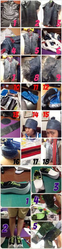 One way to make Kristoff's costume from Frozen