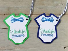 12 Little man onesie ties and bow ties thank you by papermeblossom, $10.00