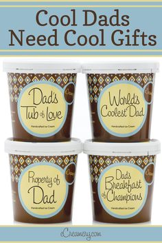 Cool dads need cool gifts--and nothing is cooler than personalized ice cream. Whether you shop our Father's Day collection or create a custom-churned batch just for him, you'll win major brownie points with brownie bites. And this goes for Grandpas, too.