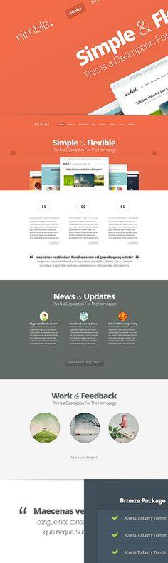 Nimble WordPress Theme preview ElegantThemes Teaser