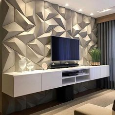 These days TVs are often found on walls, but when it comes to deciding how you want to create the perfect TV wall, it can be challenging to. Room Interior, Home Interior Design, Tv Wall Cabinets, Modern Tv Wall Units, Tv Wall Decor, Wall Tv, Bedroom Tv Wall, Bedroom Apartment, Living Room Tv Unit Designs