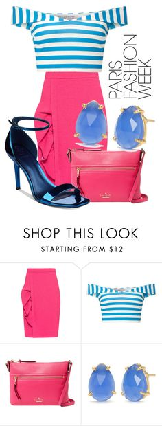 """moon sailing"" by honeysuckelle ❤ liked on Polyvore featuring Boutique Moschino, Miss Selfridge, Kate Spade, Reece Blaire, GUESS, parisfashionweek and Packandgo"