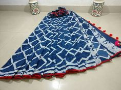 New collection of pom pom mul cotton sarees With blouse Order what's app 7995736811