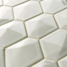 EliteTile Fractal Porcelain Mosaic Tile in White