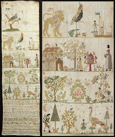 Sampler from Saxony Reproduction Sampler by LettersGreatandSmall, $24.00