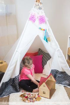 I am so excited about this wonderful addition to my daughter's room! This We R Memory Keepers DIY TeePee Craft Kit comes with all the . Toddler Teepee, Toddler Bed, Daughters Room, To My Daughter, Diy Teepee, We R Memory Keepers, Make Your Own, How To Make, Craft Kits