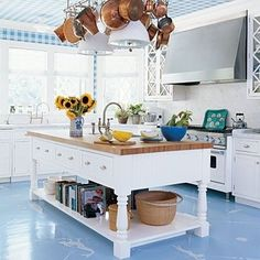 Blue/white kitchen