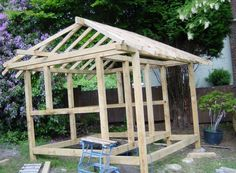 Build a Japanese Tea House - assembling the roof