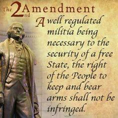 Gun Nutters tend to forget the first clause. Gun possession is supposed to support membership in a militia. And that militia is intended to be regulated. So let's conscript gun nutters into the militia and regulate and register their guns!
