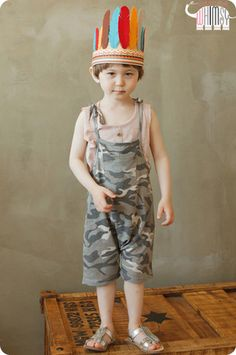 Camo Overall Shorts Set for  boys and girls aged 1-7. Cool kids fashion, play ready style at Color Me WHIMSY.