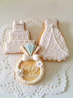 www.weddbook.com everything about wedding ♥ Cute wedding cookies