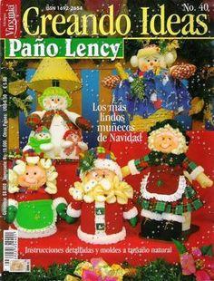 Revistas de Fieltro gratis: revista muñecos navideños gratis...FREE BOOK OF FELT DOLLS AND PATTERNS!!