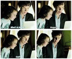 Sherlock and Archie. We all wanted to see what Sherlock would be like interating with a kid and this scene did not disappoint