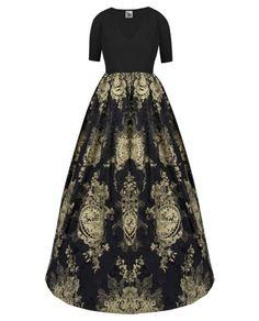 V Yaka Güpür Elbise