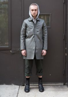 "New Street Style: William, 21""I am wearing Patrik Ervell, Carhartt, Dickies, and.... William, 21 ""I am wearing Patrik Ervell, Carhartt, Dickies, and Thom Browne in the photo. My style is usually a balance of workwear and formal tailoring. I really like constructed tailored coats, and a try to incorporate a jumpsuit into my daily look."" Apr 20, 2017 ∙ SoHo"