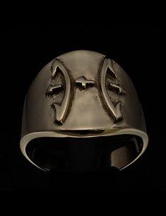 SHINING ROUND BRONZE MENS ZODIAC COSTUME RING STAR SIGN PISCES SYMBOL Zodiac Rings, Costume Rings, Sagittarius, Baseball Hats, Bronze, Symbols, Sign, Baseball Caps, Caps Hats
