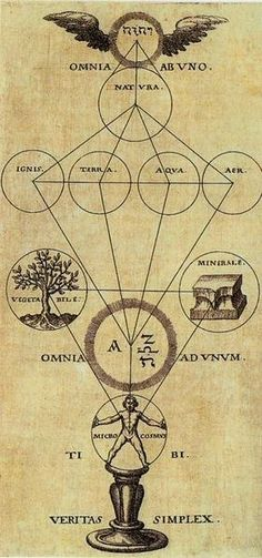 Alchemy: Isoteric symbology - Source: #Alchemy and Mysticism from the Hermetic Museum Author: Theophilius Schweighart Work: Speculum sophicum Rhodostauroticum Date: 1604 Work is over 400 years old, in the public domain.: