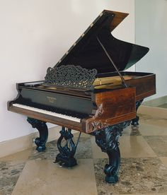 Grand piano, Steinway & Sons, New York, 1868. One of my life goals is to own a beauty like this.