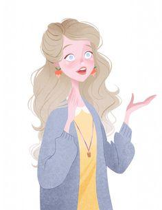 Luna Lovegood from J.K. Rowling's Harry Potter series, illustrated by Taryn Knight.