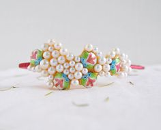 Little Fish - one of a kind headband, chinese style fish bead