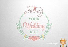 Your Wedding Kit #portfolio #design #designer #cute #sweet #flowers #mint #pink #kitty #cat #wedding #logo #behance #stocklogos #logopond #graphic