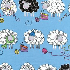 Knitty Sheep-BTX4850-05B Blue