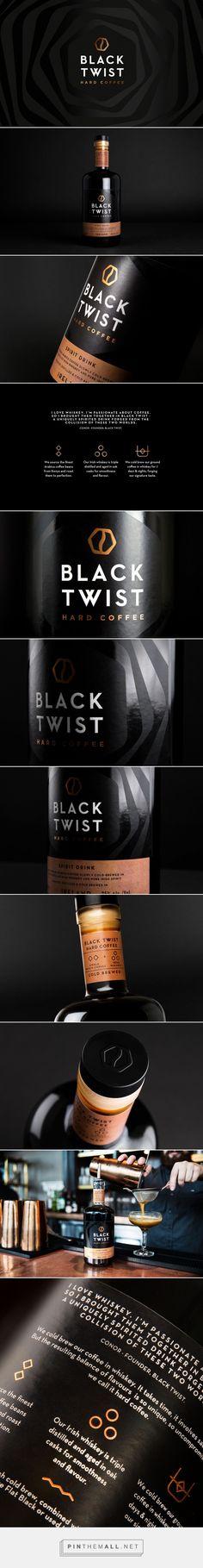 Black Twist Hard Coffee + Whisky packaging design by Robot Food - http://www.packagingoftheworld.com/2017/09/black-twist.html