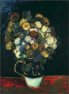 Still Life Vase with Zinnias - Vincent van Gogh
