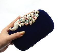 #WeddingBags #EveningBags # Rhinestones Phonix Lady's Evening Handbag 5colors