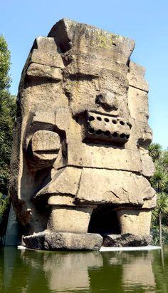 Tláloc estatua colocada en el Museo Nacional de Antropología, Ciudad de México