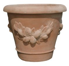 It's so hard to find beautiful terra cotta pots. This one would be beautiful with a dwarf meyer lemon tree. Meyer Lemon Tree, Vases For Sale, Cement Crafts, Terracotta Pots, Container Gardening, Flower Pots, Planter Pots, House Design, Terra Cotta