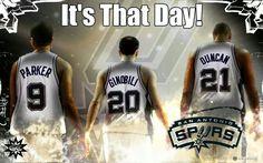 San Antonio Spurs. Tony Parker, Ginobili, & Tim Duncan
