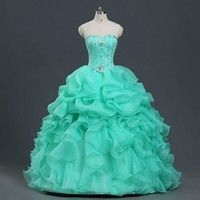 693d2c2718 Elegant Organza Quinceanera Dresses Ball Gown with Beads Ruffle Lace Up  Closure Evening Party Gown Vestidos De 15 Anos