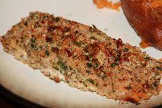 Baked Pecan Panko Crusted Salmon