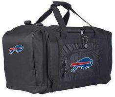"NFL Buffalo Bills ""Roadblock"" Duffel Bag by The Northwest in Black #ad #duffelbag #nfl #football #billsmafia #buffalo #buffalobills #bags #carryon #luggage"