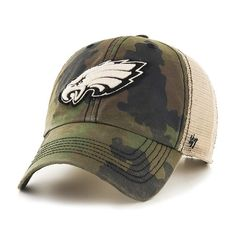 3ab8ababc6a Philadelphia Eagles 47 Brand Green Howitzer Camo Burnett Mesh Adjustab – Sporting  Up Eagles Hat