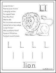 Letter L Lily lesson plan printable activities: poster