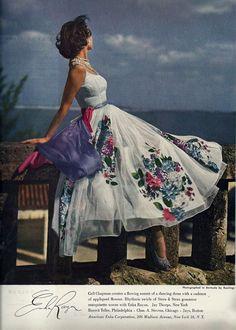 1940's Wall Art Vogue Fashion Magazine Ad Home Decor Wall Hanging Fabulous Paper Ephemera Advertising