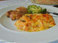 #Gratinado de Bacalhau e Legumes